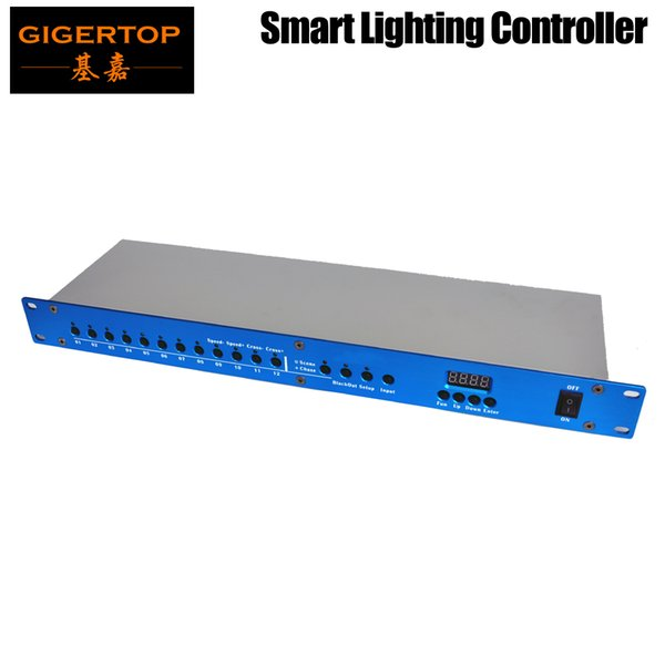 best selling Freeshipping TP-D004P Smart Light Controller DMX 512 Program Recorder and Player Function Choose Speed Adjust Blue Housing Color