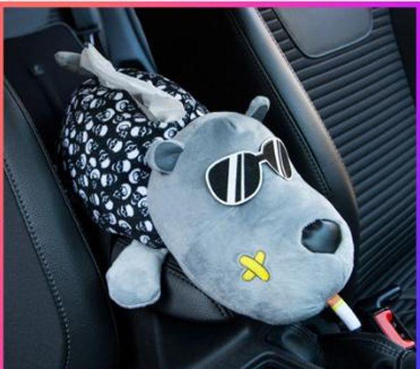 Caja de pañuelos de coche, caja de succión, uso de automóvil, asiento de coche, colgar, sombrilla, reposabrazos, caja, creativo, lindo