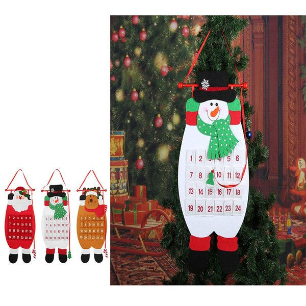 2018 Christmas Creative Advent Calendar Santa Claus Snowman Elk Animal New Year Christmas Ornaments Xmas Decoration supplies