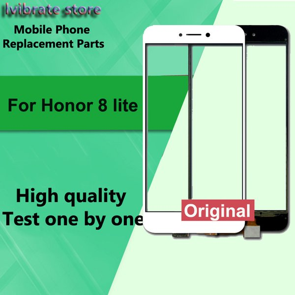 For Huawei Honor 8 lite LCD Front Touch Screen Digitizer Outer Glass Lens Honor8 lite honor8lite Touch Panel with flex cable