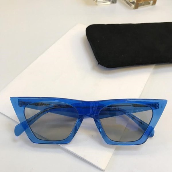 41468 Star Show Lady popular Cat eye Plate Sunglasses Top Quality Mirror lens UV400 protection With original box