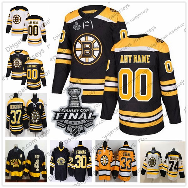 Boston Bruins 2019 Stanley Cup White Jersey Black 55 Noel Acciari 75 Connor Clifton 83 Karson Kuhlman 86 Kevan Miller Winter Classic Yellow