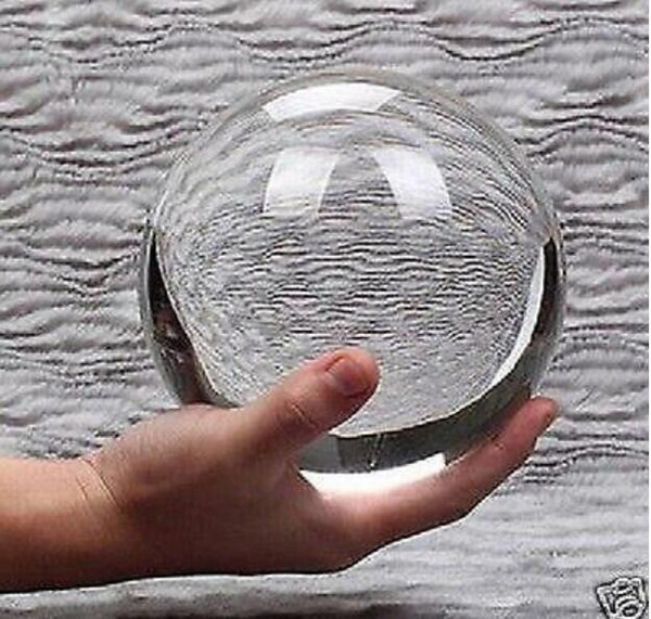 New + Very clear size 100mm Round Glass Crystal ball Sphere