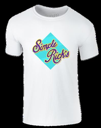 brand88 Semplice RICK'S wafer,adulti T-SHIRT STAMPATAwhite black grey red trousers tshirt
