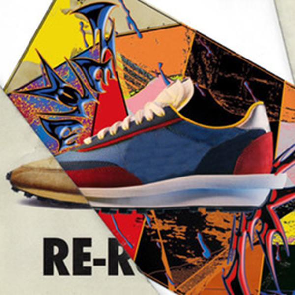 Nike X Sacai En kaliteli Sacai LDV Waffle Daybreak Eğitmenler Erkek Sneakers Kadınlar Için moda tasarımcısı Işkembe S Spor Koşu Ayakkabıları Beden Boyutu Eur36-45