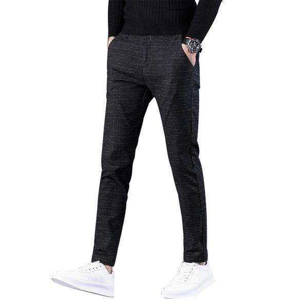 Pantaloni vestito di affari Pantaloni Casual Maschio pantaloni elastici diritte dei nuovi uomini di grande formato degli uomini Cotone Moda pantalones cotone