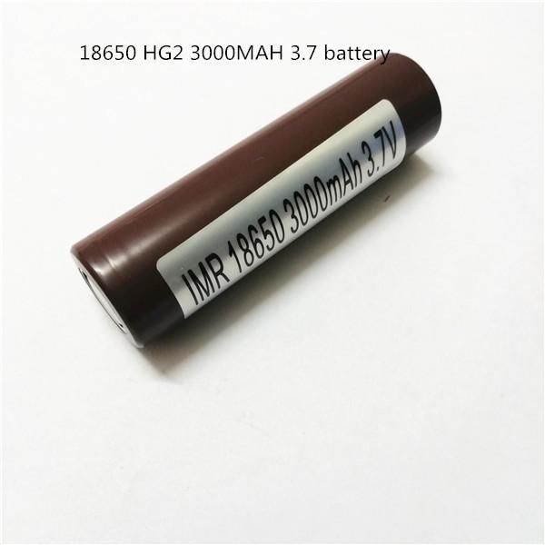 top popular 100% High Quality 18650 Battery HG2 3000mAh 30A Rechargable Lithium Batteries for LG Cells Fit Ecigs Vaporizer Vape box mod 2021