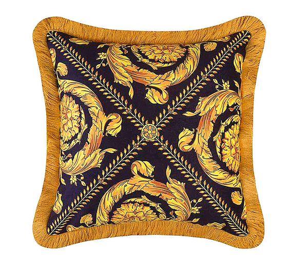 50CM Baroque Medusa Classic Throw Pillows Cases Luxury Designer Decorative Velvet Thicken Tassel Cushion Cover EU Royal Home Collections