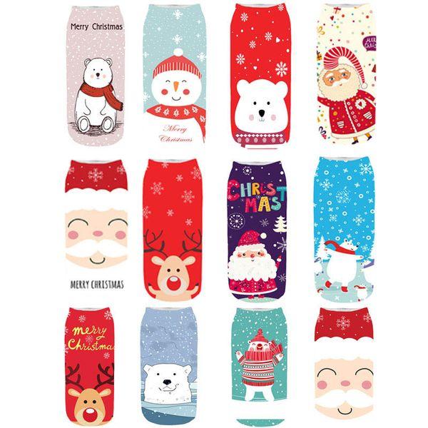 New Christmas Kids Socks 3D printing adult socks women socks Ankle Sock Children Sock girls accessories A9805