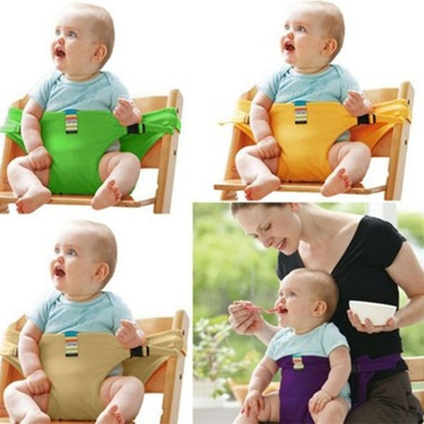 Baby Portable Dinning Chair Safety Belt Porable Seat Kids Baby Lunch Chair Seat Feeding High Harness