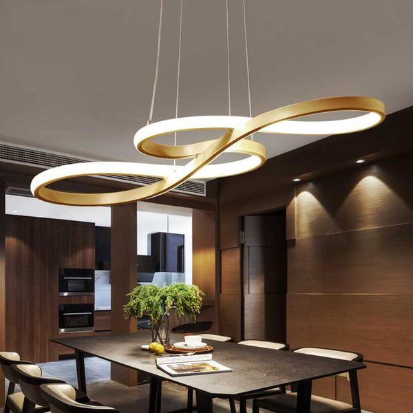 Großhandel Kunst Und Design Shaped Concise Moderne LED Lampen Wohnzimmer  Pendelleuchte Bekleidungsgeschäft Bar Kreative Esszimmer LED Kronleuchter  Von ...