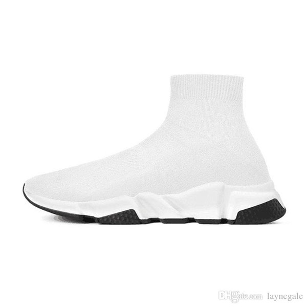 2019 designer Shoes Speed Trainer Brand bule black white red Flat Fashion men womens Socks Boots Sneakers