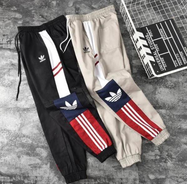 2019 New Green Color Fifth Collection Justin Bieber cerniera laterale pantaloni sportivi da uomo stile hiphop jogger S-XXL
