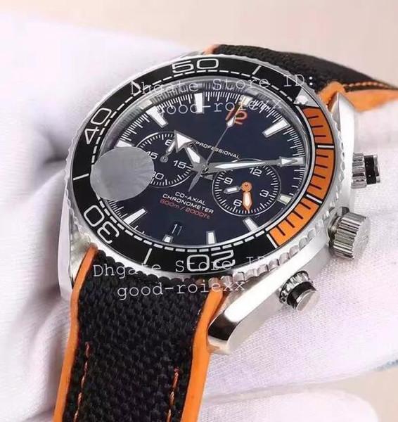 Mens Chronograph VK Relógio de Quartzo Homens Cinza Dial Chronometer Mestre 600 m Co Relógios Suíços Axiais Dive Esporte Data Profissional 007 relógios de Pulso