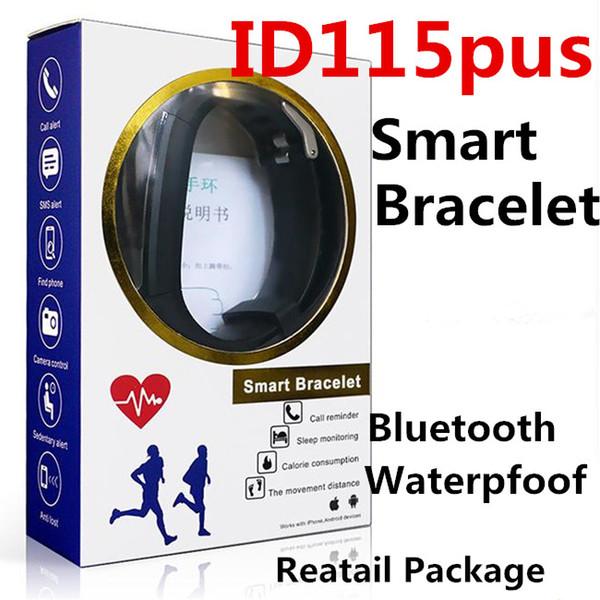 ID115 Plus Смарт-Браслет Фитнес-Трекер Шагомер Часы Группа Сердечного ритма Монитор Артериального Давления Смарт-Браслет Для Android Цветной Экран