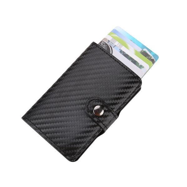 Fashion Creative Sliding Hand-push Pop Up Card Bag Business Id Credit Cards Holder Wallet Cards Pack Cash Business Card Case