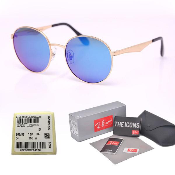 db1410ac57928 9 colores Gafas de sol polarizadas redondas de alta calidad Hombres Mujeres  Diseñador de la marca