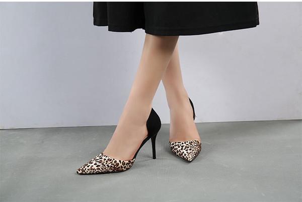 Sapatos de couro genuíno das mulheres novas de salto alto sandálias vestido sapatos 35-39 com caixa