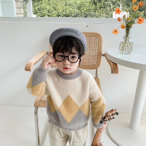 2019 новая осень зима детская дизайнерская одежда норковая шерсть Sweatet для девочек и мальчиков роскошный пуловер Vetement Enfantv джемперы свитера высокого качества