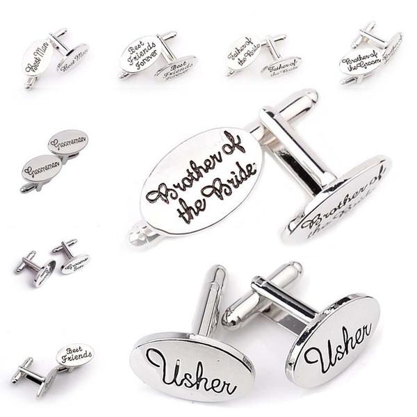 Damat Gelin Damat Sons Best Friends Düğün Kol Düğmeleri Fransız Gömlek Manşet Düğme Linkler Moda Düğün Takı drop shipping 170900
