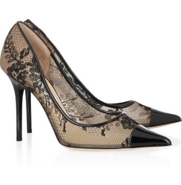 Jimmy KC Choo Fashion classic high heel women's shoes wedding shoes bridal shoes sandals box 35-42 q7