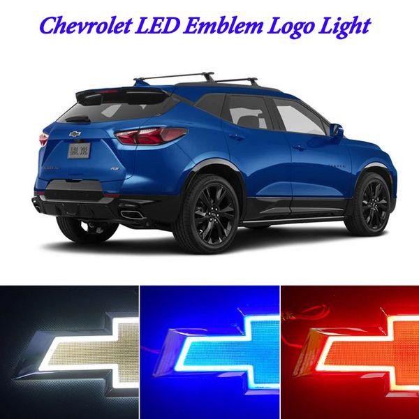 top popular LED Car Tail Rear Logo Light Badge Lamp Emblem For CHEVROLET CRUZE EPICA 6.69 X 2.16inch White Red Blue 5D 3D 2021