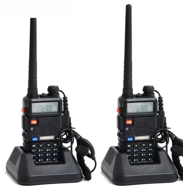 2pcs Original Baofeng UV 5R Portable Dual band VHF UHF two way radio 136-174/400-520 ham cb radio uv-5r Walkie Talkie 2 pcs /set