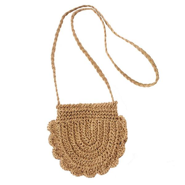 Nouveau creux sac de paille Summer Beach épaule Messenger Bag femmes fille simple et littéraire petit sac frais Wove