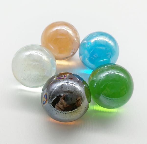 Perle di vetro da 25 mm (colore casuale)