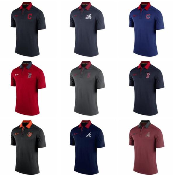 New 2020 Sweat-shirt Homme Rouge Indianss Rockiess Tigerss Cardinalss Rayss Rangerss Bleu Jayss Nationalsss authentique Collection Elite Polo