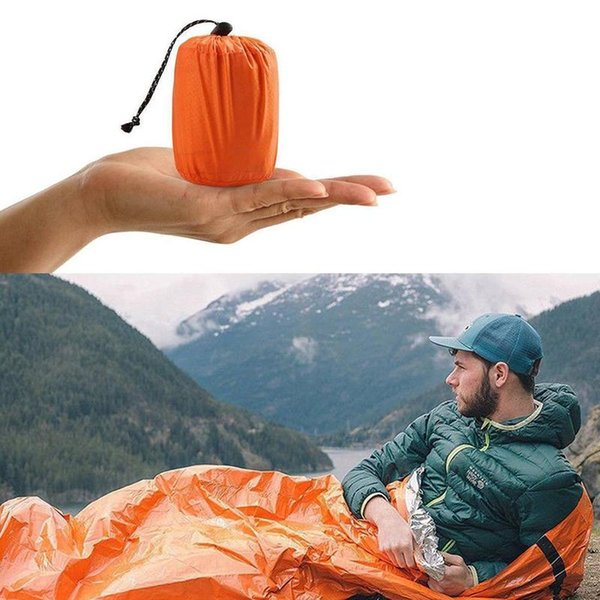 Outdoor Emergency Sleeping Bag Thermal Survival Camping Travel Bags Lightweight Anti-cold Summer Autumn Picnic Pad