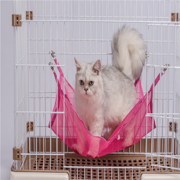Cat Hammock Kitty Pets Articles Summer Ventilation The Cat Litter A Hook Cat Cage Hanging Bed Swing Bed Products Fall Out Of Bed Kitten Use