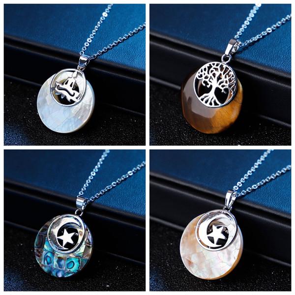 Pietra naturale Albero della vita ciondolo gioielli ciondolo gioielli donne yoga reiki guarigione equilibratura collane gioielli regalo migliore