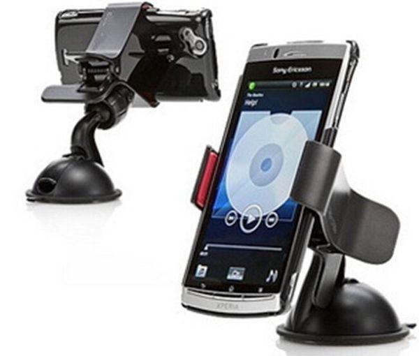 Suporte de telefone celular universal suporte de montagem de pára-brisa de suporte de mesa titulares para telefone celular smartphone samsung iphone 2 cores