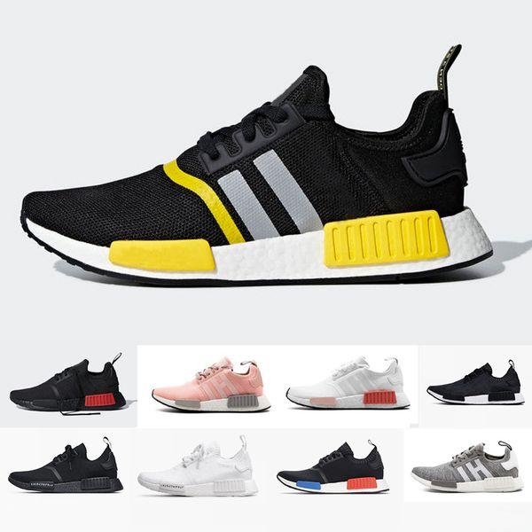 2019 NMD R1 xr1 Primeknit Japan Triple Black white red OG pink men women running shoes runner breathable sports shoe trainer sneakers