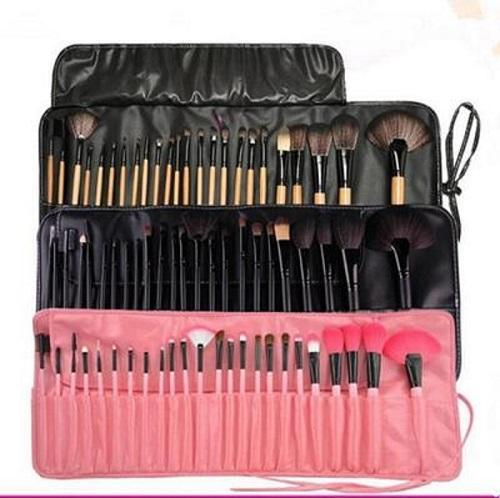 Hot makeup brush 24 piece sets with PU makeup bags eye shadow Valentine's Day gift beauty tools free shipping