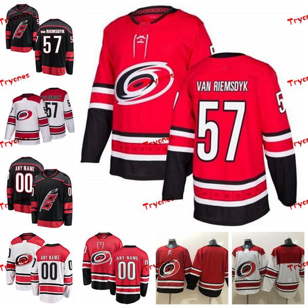the latest 38344 72f0d 2019 2019 Carolina Hurricanes Trevor Van Riemsdyk Stitched Jerseys  Customize Alternate Black Shirts 57 Trevor Van Riemsdyk Hockey Jerseys S  XXXL From ...