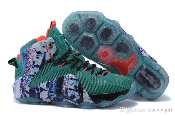 8d620b5b7569 Cheap new Lebron 12 XII mens basketball shoes for sale Christmas BHM Easter  Halloween Akronite DB boots with original box Size 7 12