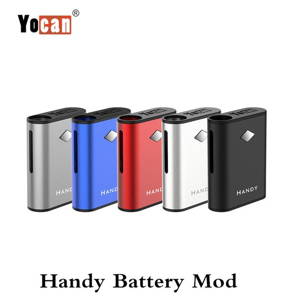 Authentic Yocan Handy Box Mod 500mAh Pré-aqueça o VV Vape bateria com conexão magnética vaporizador Kit Grosso Cartucho de óleo