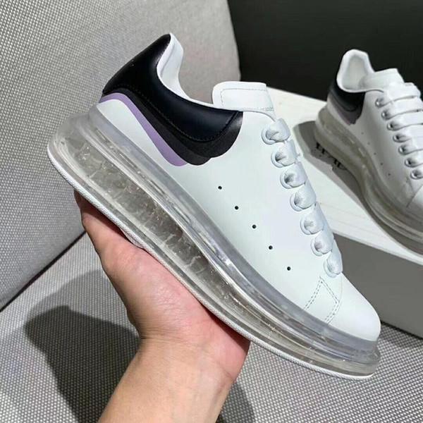 Lates grife Casual Shoes Homens altos transparente de fundo de vácuo de borracha Sapatilhas Mulheres formadores sapatos de plataforma couro branco 13
