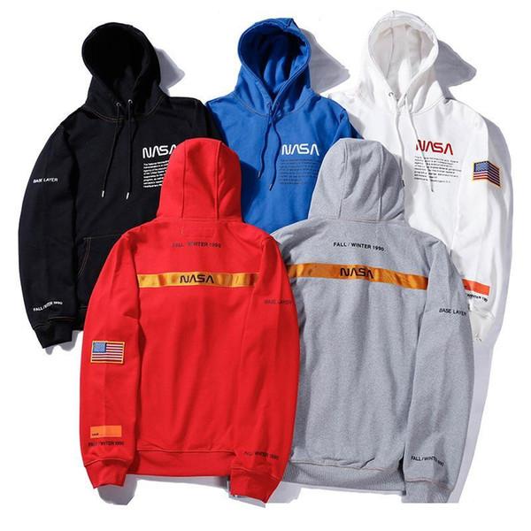 HERON PRESTON X NASA Gedruckte Mens High Street Beiläufige Hoodies Männliche Langarm-Sweatshirts Mit Kapuze Pullover