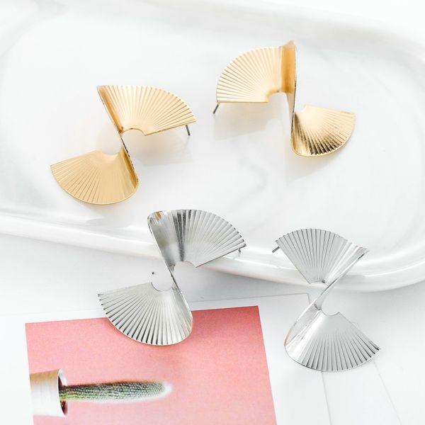 OATHYAN 2019 Punk Fashion Geometric Stud Earrings For Women Statement Gold Color Sexy Big Hyperbole Ear Gifts Wholesale