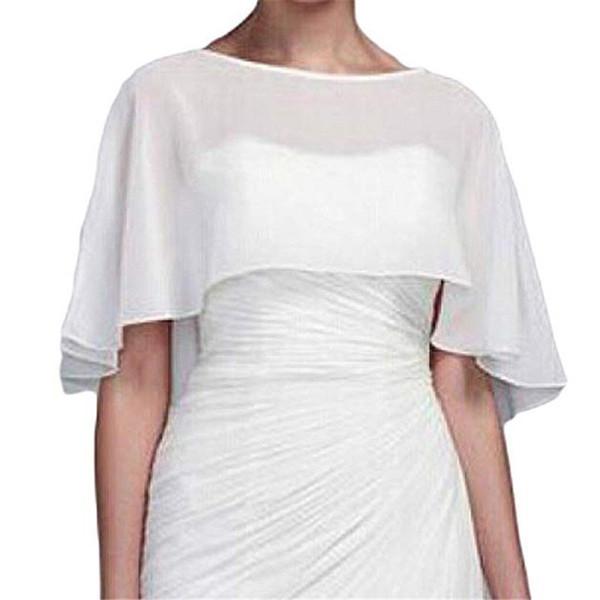 High end customization Shawl Shrug chiffon Wedding Bolero Cape night cover Wedding Dress Woman Wedding Accessories wraps Festa