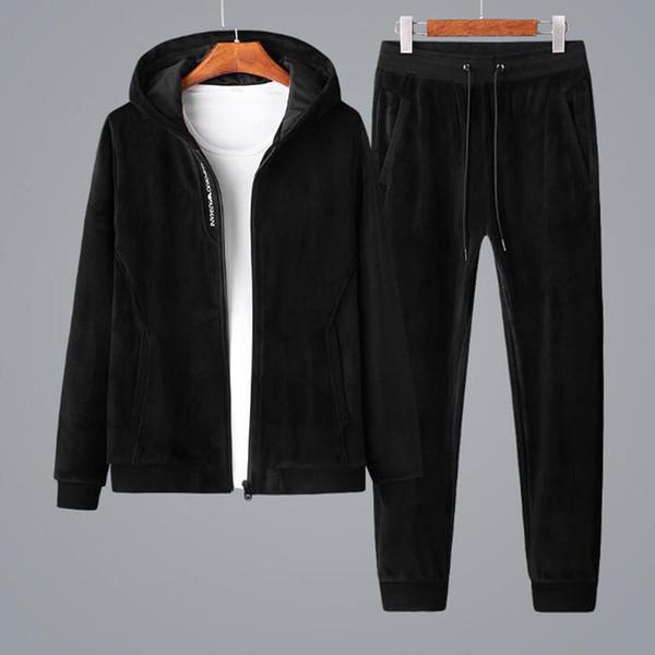 Nouvelle Italie Marque Hommes Survêtement New Luxury Designer Jacket + Pants Survêtement Haute Qualité Survêtement Mens Formation Jogging Survêtement Costumes