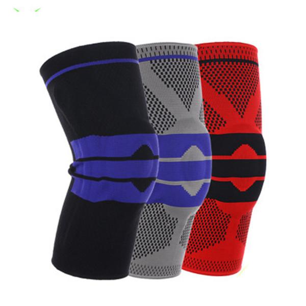 Новые эластичные наколенники Brace наколенники Регулируемая коленная чашечка Волейбол наколенники Баскетбольный защитный ремешок Защитный ремешок ZZA716