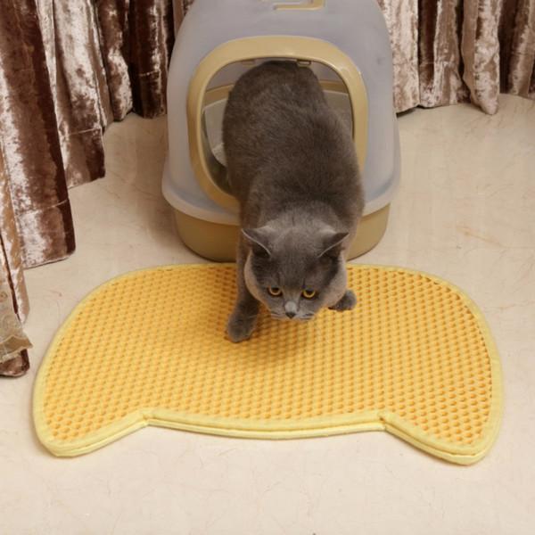 a972c2d87 Pet Cat Dogs Litter Mat Eva Double-layer Cat Litter Trapper Mats With  Waterproof Bottom