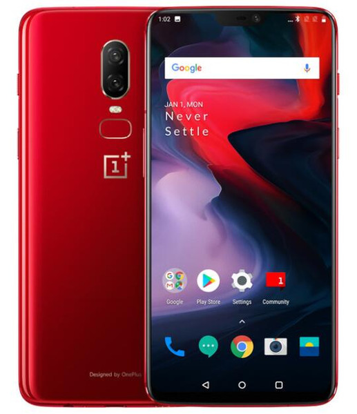 Oneplus 6 Global Firmware Unlockde Cell Phone Snadragon 845 Octa Core 64GB/128GB 6.28 inch 16MP Dual Rear Camera Android 8.1