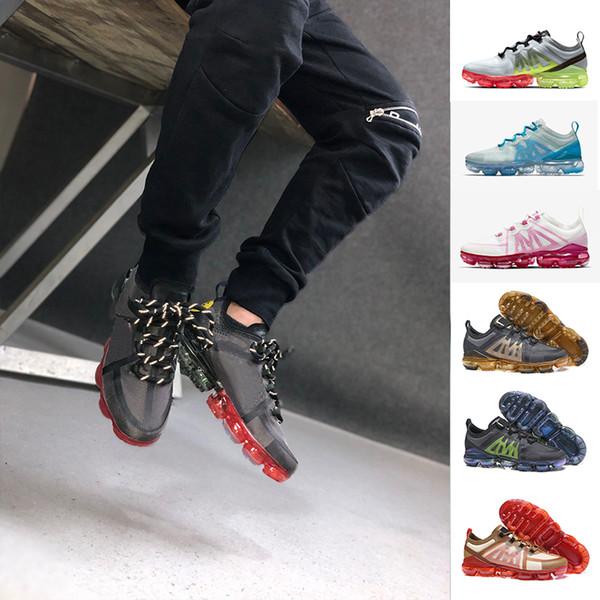 2019 CPFM Çok Renkli gülümseme Crimson Altın Erkek kadın Şok Kısaltma pembe Koşu Ayakkabıları Moda kadın erkek Chaussures Mens Spor Sneakers