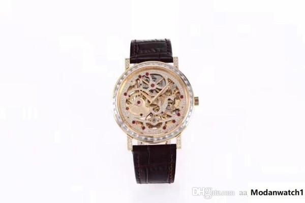 BBR ultrafino montre DE luxe reloj de joyería impermeable 1200S totalmente hueco manual de movimiento de la cadena superior relojes relojes de diseño