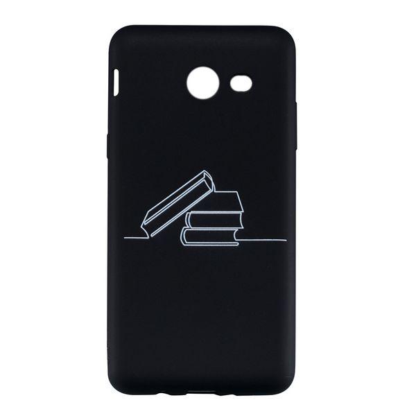 Coque Fundas Kapak Samsung Galaxy J520 J5 2017 ABD Versiyonu Kılıf Siyah Yumuşak TPU Mat Soyut resim Cep Telefonu Kılıfları
